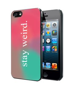 Stay Weird Funny Pink and Green Ombre Cute Tumblr iPhone 4 4S 5 5S 5C Case