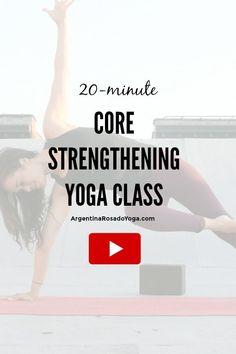 core strengthening yoga class - Core strength and ab workouts / exercises / power yoga poses. Argentina Rosado Yoga New York Bikram Yoga, Ashtanga Yoga, Cardio Yoga, Pilates, Core Strengthening Yoga, Stretching Exercises, Power Yoga Poses, Different Types Of Yoga, Improve Mental Health