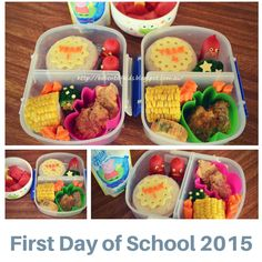 First Day of School bento in 2015