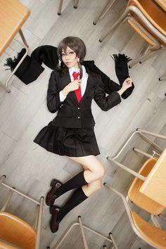 SAO|Sinon rl cosplay|schooluniform