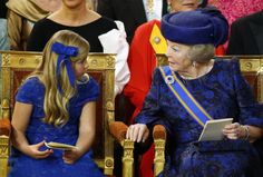 A past queen and a future queen of the Netherlands.  Princess Beatrix and her granddaughter, Princess Catharina-Amalia.