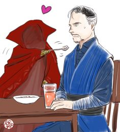 The cloak of levitation is in love with Doctor Strange somehow
