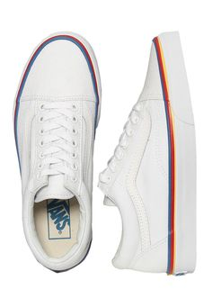 a8c484bf3b9 Vans - Old Skool Rainbow Foxing True White - Girl Schuhe im Impericon Shop  - Innerhalb