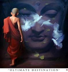 """""""Happiness never decreases by being shared."""" ~ The Buddha Lotus Buddha, Art Buddha, Buddha Kunst, Buddha Painting, Namaste, Gautama Buddha, Indian Artist, Cool Paintings, Spirituality"""