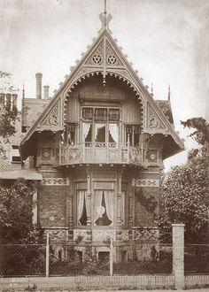 um 1875 Berlin - Tiergartenviertel, Villa Ende, Ostgiebel (Foto: Hermann Rückwardt)