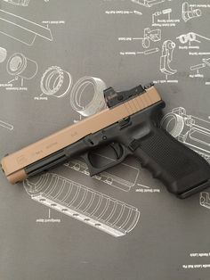 Glock 34 MOS with FDE and #burris fastfire red dot #customglock #glock34 #glock…