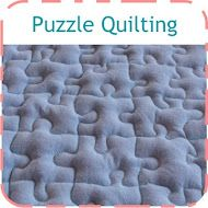 How to quilt puzzle pieces - so simple!