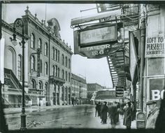 4th Street, Between Irving Place and 3rd Avenue, showing The Academy of Music, The Olympia Burlesque and Tammany Hall, circa 1920