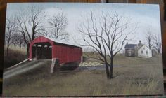 "Red Bridge at Pool Forge - Billy Jacobs 12"" by 20"" canvas print at the Cottage Gift Shop - Elmira, NY"