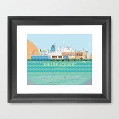 The Life Aquatic Framed Art Print by Alan Segama - $32.00
