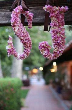 DIY Wedding Table Decoration Ideas | Flower Monogram | Click Pic for 20 Easy DIY Wedding Decorations