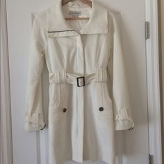 Trench coat Ivory Trench Coat. Only worn a few times Suzabelle Jackets & Coats Trench Coats