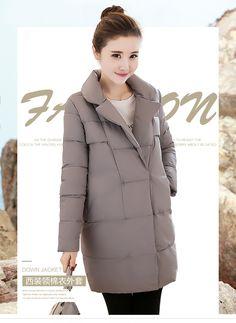 2016 средней длины куртка женский мода нагрудные зимнее пальто женщин свободные утолщение пуховик дамы плюс размер женщин верхняя одежда купить на AliExpress