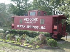 Ocean Springs, Mississippi.  Picturesque little town just across the big bridge from Biloxi.  Lovely shops and harbor...festivals around the beautifully restored depot...slj