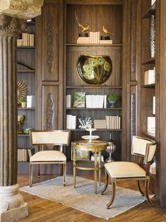 Cornerstone Architects | Stone and wood pillar