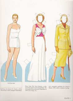 Grace Kelly Paper Dolls by Tom Tierney