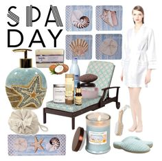 """Spa Day Nr.1"" by giovanina-001 ❤ liked on Polyvore featuring beauty, Croscill, Certified International, Urban Spa, Oscar de la Renta, Improvements, Acorn and spaday"