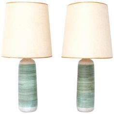 Mid-Century Ceramic Lamps | See more antique and modern Table Lamps at https://www.1stdibs.com/furniture/lighting/table-lamps