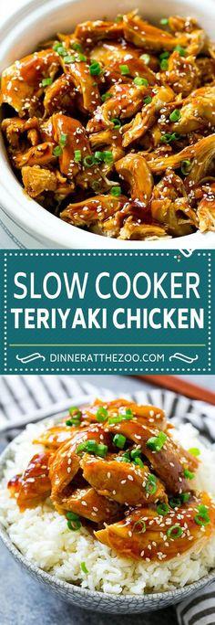 Slow Cooker Teriyaki Chicken Recipe | Crock Pot Teriyaki Chicken | Slow Cooker Chicken | Asian Chicken #slowcooker #crockpot #teriyaki #chicken #dinner #dinneratthezoo #slowcookerrecipes #chickenteryaki