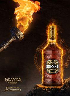 Beluha bitter by Vladimir Andreev, via Behance
