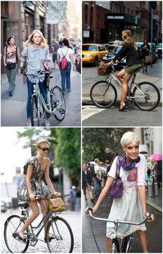 bike chic.  especially agyness deyn
