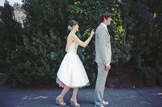 Peekaboo Rainbow Wedding Dress