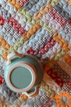 Piece N Quilt -Jelly Roll Jam with Fat Quarter Shop, machine quilted by Natalia Bonner