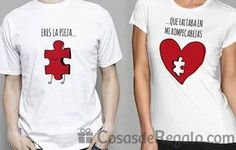 rompecabezas Couple Tees, Matching Couple Shirts, Couple Tshirts, Matching Couples, Graphic Shirts, Tee Shirts, Couple Outfits, Shirt Designs, Mens Tops