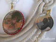 3 Dimensional Pendant Necklaces featuring NEW Podgeable Shapes from Mod Podge