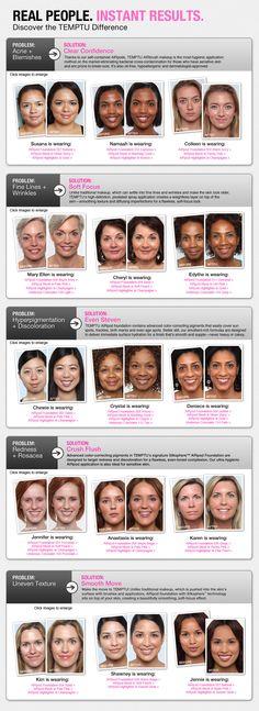 Temptu airbrush make-up...AMAZING STUFF. It's like photoshop in a pod!