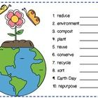 Have students use a magnifying glass to find these 10 hidden Earth Day inspired words.   Included are two versions 1. shows which words to find 2. ...