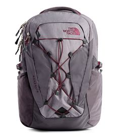 Buy the The North Face Women's Borealis Laptop Backpack - at eBags - Carry your essentials for the daily commute or an outdoor adventure inside this laptop backpack from North Face Women, The North Face, Cute Backpacks For School, Trendy Backpacks, North Face Borealis, Commuter Bag, Quick Draw, Bungee Cord, North Face Backpack