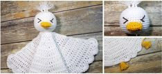 Rupert the Duck Lovey - Auburn Elephant Crochet Decrease, Double Crochet, Single Crochet, Crochet Lovey, Baby Blanket Crochet, Free Crochet, Snuggle Blanket, Lovey Blanket, Baby Comforter