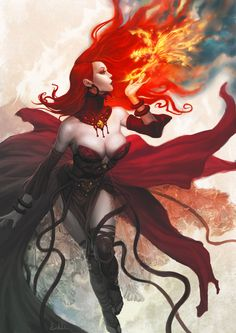 Maiden of Fire by kunkka (normally this would go to my High Fantasy board, but this is exactly how I picture Melisandre in Game of Thrones)