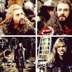 Fili and Kili standing up to Thorin. The nephews have had enough.