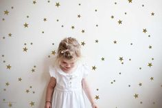 Gold stars wall decal-- Brighten up any room with our lovely mini star wall stickers.
