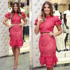 Pink Dress, New Dress, Lace Dress, Estilo Glam, Stylish Dresses, Fashion Dresses, Girly Girl Outfits, Honeymoon Outfits, Chic Dress