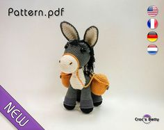 Pattern  Donkey Nymous by CrocsBetty on Etsy