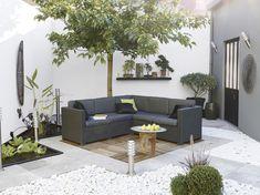 Corner garden unit