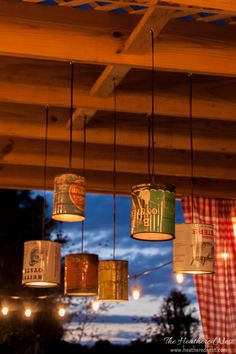 DIY Tin Can Outdoor Lighting Tutorial. You CAN Do This! - Heathered Nest