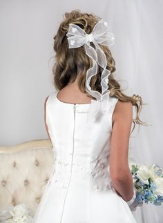 White Lace Dress for BRIDES 1ST COMMUNION Fit CPK /& MANY Dolls ANGELS