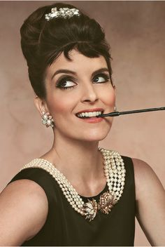 Tina Fey as Audrey Hepburn.