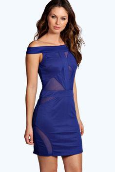 1/3/17   Brand/Designer: Boohoo Dress Silhouette: Bodycon Shoulder: Off-Shoulder Embellishments: Mesh