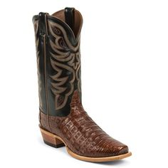 Nocona Men's Caiman Exotic Square Toe Western Boots