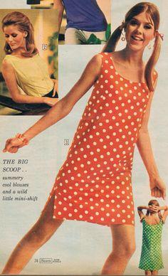 Sears catalog 60s.  Love the polka dots 60s And 70s Fashion, Retro Fashion, Vintage Fashion, Teen Fashion, Fashion Outfits, Womens Fashion, 1960s Outfits, Vintage Outfits, Vintage Clothing