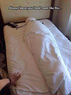 Hotel Room Prank