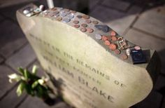 A coin left on a headstone or at the grave site is meant as a message to the deceased soldier's family that someone else has visited the grave to pay respect. Leaving a penny at the grave means simply that you visited. A nickel indicates that you and the deceased trained at boot camp together, while a dime means you served with him in some capacity. By leaving a quarter at the grave, you are telling the family that you were with the solider when he was killed.