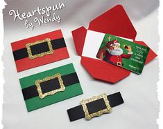 Items similar to Set of 4 Santa Suit or Elf Gift Card Holders with Note Card, Christmas Gift Card Envelopes, Christmas Card, Money Holder, Stocking Stuffer on Etsy Gift Cards Money, Free Gift Cards, Money Envelopes, Card Envelopes, Christmas Card Crafts, Christmas Envelopes, Christmas Elf, Xmas Gifts, Christmas Ornament