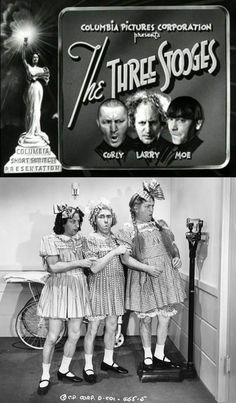 """The Three Stooges. Momma loved The Three Stooges. When I cleaned her house out, I found several items she had bought with these """" little men"""", as she called them, on them."""