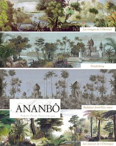 Papier Peint Panoramique Plus Plus Scenic Wallpaper, Fabric Wallpaper, Bedroom Wallpaper, Wallpaper Murals, British Colonial Decor, Estilo Tropical, Wall Murals, Wall Art, Wall Treatments
